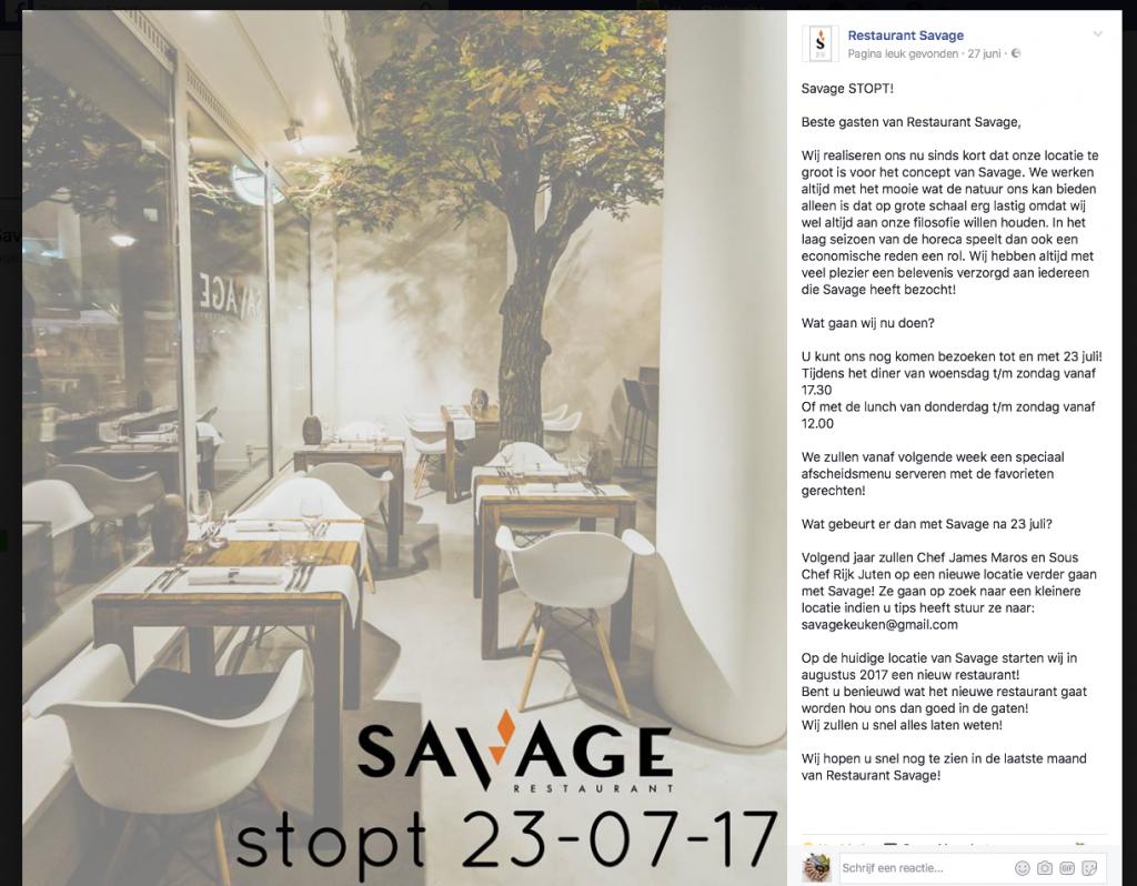 FB bericht savage