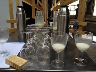 melkproeven wijnglazen